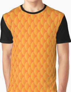 Mermaid goldfish scales, 3d effect fun bold animal print design in gold and orange, classic statement fashion clothing, soft furnishings and home decor  Graphic T-Shirt