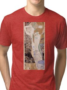 Gustav Klimt - Friends (Water Serpants)1904 - 1907  Tri-blend T-Shirt