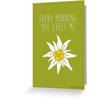 sound of music - edelwies green Greeting Card