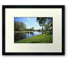 Beautiful spring landscape Framed Print