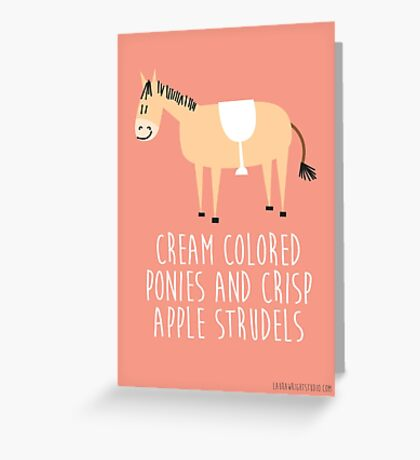 Sound of music pony Greeting Card
