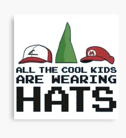 Cool Kids Wear Hats Canvas Print