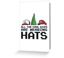 Cool Kids Wear Hats Greeting Card