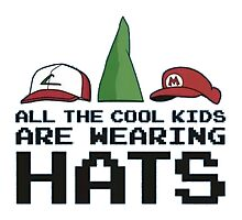 Cool Kids Wear Hats Photographic Print