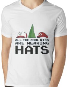Cool Kids Wear Hats Mens V-Neck T-Shirt