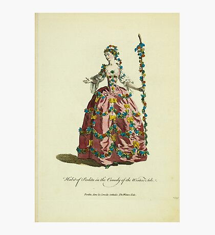 Habit of Perdita in the comedy of the Winter's Tale Perdita dans la comédie intitulée The Winter's Tale 371 Photographic Print