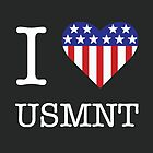 I ♥ USMNT (WHITE TEXT) by Beth L