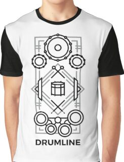 Drumline - Black & Gray Graphic T-Shirt