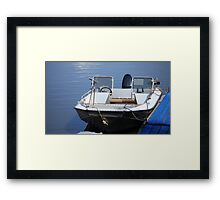 Fishing  Motorboat  Framed Print