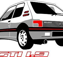 Peugeot 205 GTI 1.9 white by car2oonz