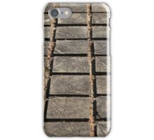 cracked paving wooden walkway iPhone Case/Skin