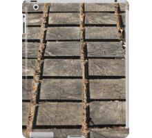 cracked paving wooden walkway iPad Case/Skin