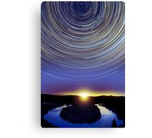 Horseshoe Bend startrails Canvas Print