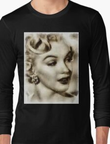 Marilyn Monroe Vintage Hollywood Actress Long Sleeve T-Shirt