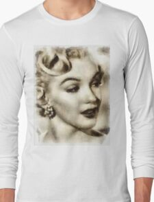 Marilyn Monroe Vintage Hollywood Actress Long Sleeve T-Shirt