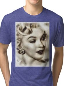 Marilyn Monroe Vintage Hollywood Actress Tri-blend T-Shirt