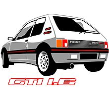 Peugeot 205 GTI 1.6 white Photographic Print