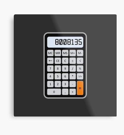 Calculator Memories Metal Print