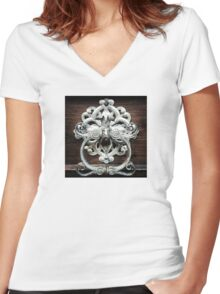 Doorway to the Past Women's Fitted V-Neck T-Shirt