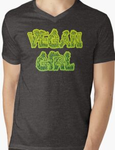 Vegan Girl Mens V-Neck T-Shirt