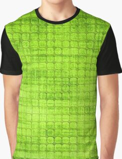 Graphic, Pixel Scape, Green (Texture, Background) Graphic T-Shirt