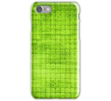 Graphic, Pixel Scape, Green (Texture, Background) iPhone Case/Skin