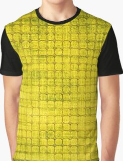 Graphic, Pixel Scape, Yellow (Texture, Background) Graphic T-Shirt