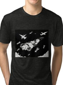Punk Bomb Earth Destroyed! Tri-blend T-Shirt