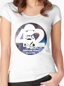 Don't Talk to Me About Life Women's Fitted Scoop T-Shirt