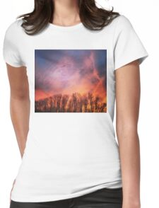 Burning Sky Womens Fitted T-Shirt