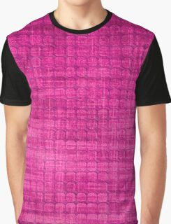 Graphic, Pixel Scape, Pink (Texture, Background) Graphic T-Shirt