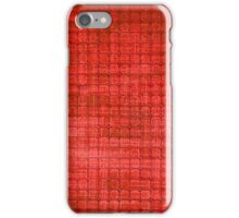 Graphic, Pixel Scape, Red (Texture, Background) iPhone Case/Skin