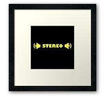 STEREO Framed Print