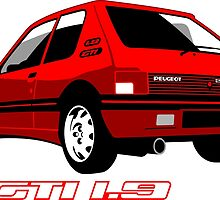 Peugeot 205 GTI 1.9 red by car2oonz
