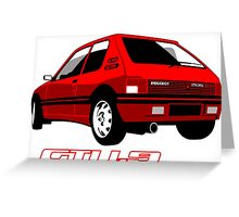 Peugeot 205 GTI 1.9 red Greeting Card