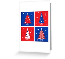 Christmas Trees design blocks icons Greeting Card