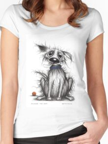 Stinker the dog Women's Fitted Scoop T-Shirt