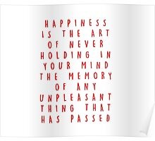 HAPPINESS QUOTE. Poster