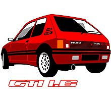 Peugeot 205 GTI 1.6 red Photographic Print