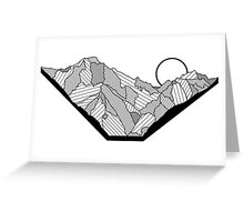 Line Mountain Greeting Card
