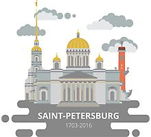 Saint-Petersburg flat cityscape. Photographic Print