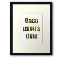 Once Upon A Time- Fairy Garden Framed Print