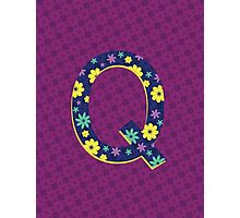 Flower Letter Q Photographic Print