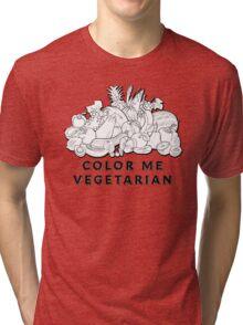 Color Me Vegetarian Tri-blend T-Shirt