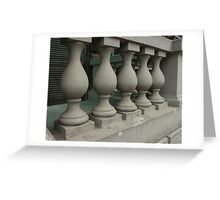 old stone balusters Greeting Card