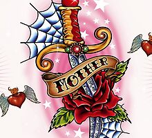 Tattoo Love Heart with wings and dagger by tattoofreak
