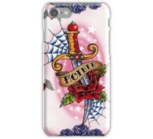 Tattoo Love Heart with wings and dagger iPhone Case/Skin
