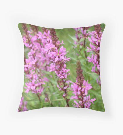flower purple grass crybaby Throw Pillow
