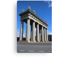 View of the Triumphal Arch in St. Petersburg Canvas Print