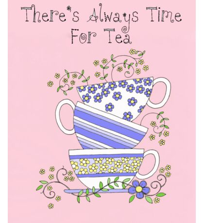 Always Time for Tea Pink Sticker